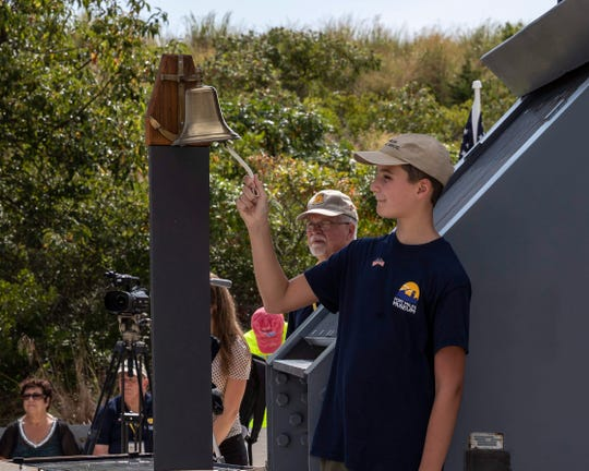 As each of the 100 names were read, a bell tolled twice in honor of fallen Delawareans in World War II on Sunday, Sept. 2 at the Fort Miles Museum.