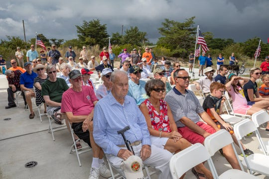 A crowd gathered for the third annual V-J celebration was hosted by the Fort Miles Historical Association on Sunday, Sept. 2.