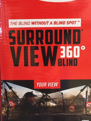 Double Bull Blinds has developed an innovative ground blind made of see-through material that works like a two-way mirror.