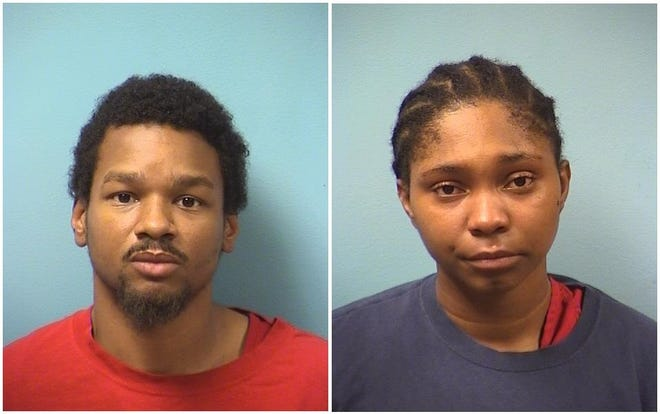 Larry Ramon Rosenbloom, 28, and Deonna Nicole Jackson, 21, booked in Stearns County Jail September 3, 2018 on felony charges.