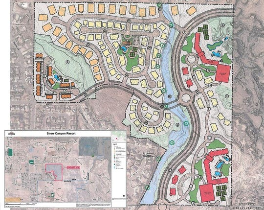 A conceptual site plan for the proposed Snow Canyon Resort was provided to the Ivins City Planning Commission on Sept. 4, 2018.