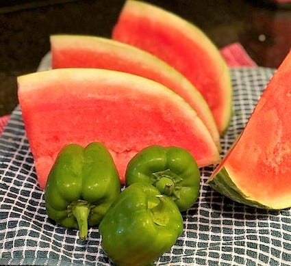 Watermelon and bell peppers are excellent choices for helping keep you hydrated and healthy.