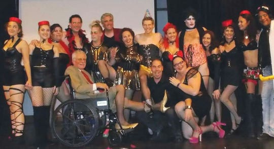 "The Barn Theatre to show ""The Rocky Horror Picture Show"" in October with a special shadow cast.  This photo is from last year's production."