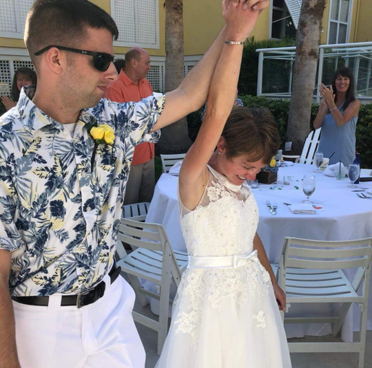 Jessica Joy Dees-Feuerstein, pictured at her April wedding, was killed Sept. 1, 2018 in a hit-and-run crash in Indian River County.