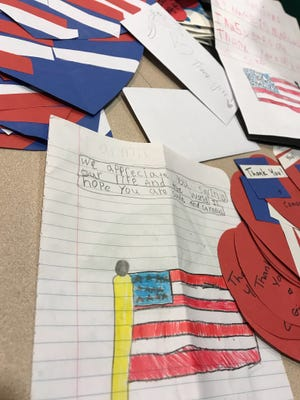 The students came up with their own messages and designs for their art.