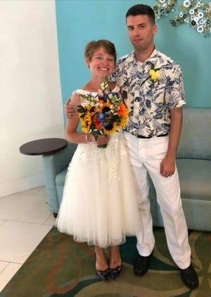Jessica Joy Dees-Feuerstein and her husband, Dustin Dees