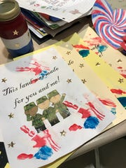 Students at Chesterbrook Academy Preschool participated in a letter-writing event to support deployed soldiers abroad.