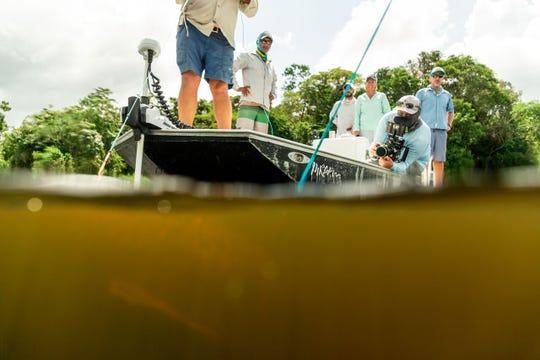 Nick Verola filming in Amazonas, Brazil.
