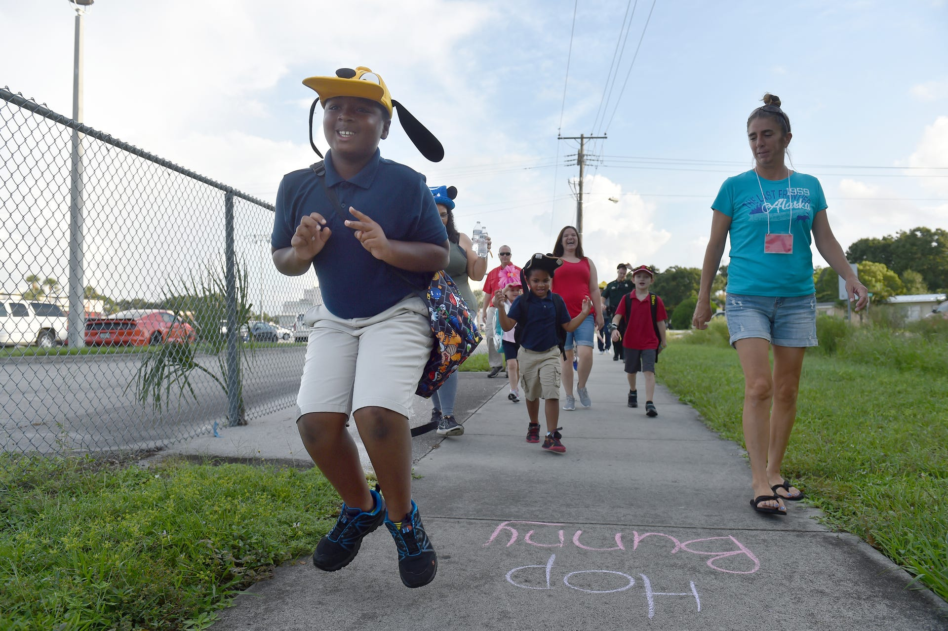 Walk to School event at Vero Beach Elementary makes learning
