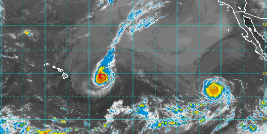 Tropical conditions in Pacific 7 a.m. Sept. 5, 2018.