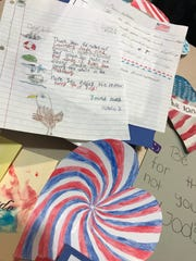 Students are looking forward to receiving photos of troops opening their letters.