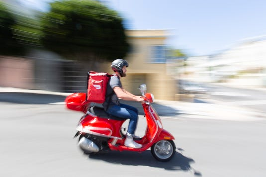 DoorDash scooter
