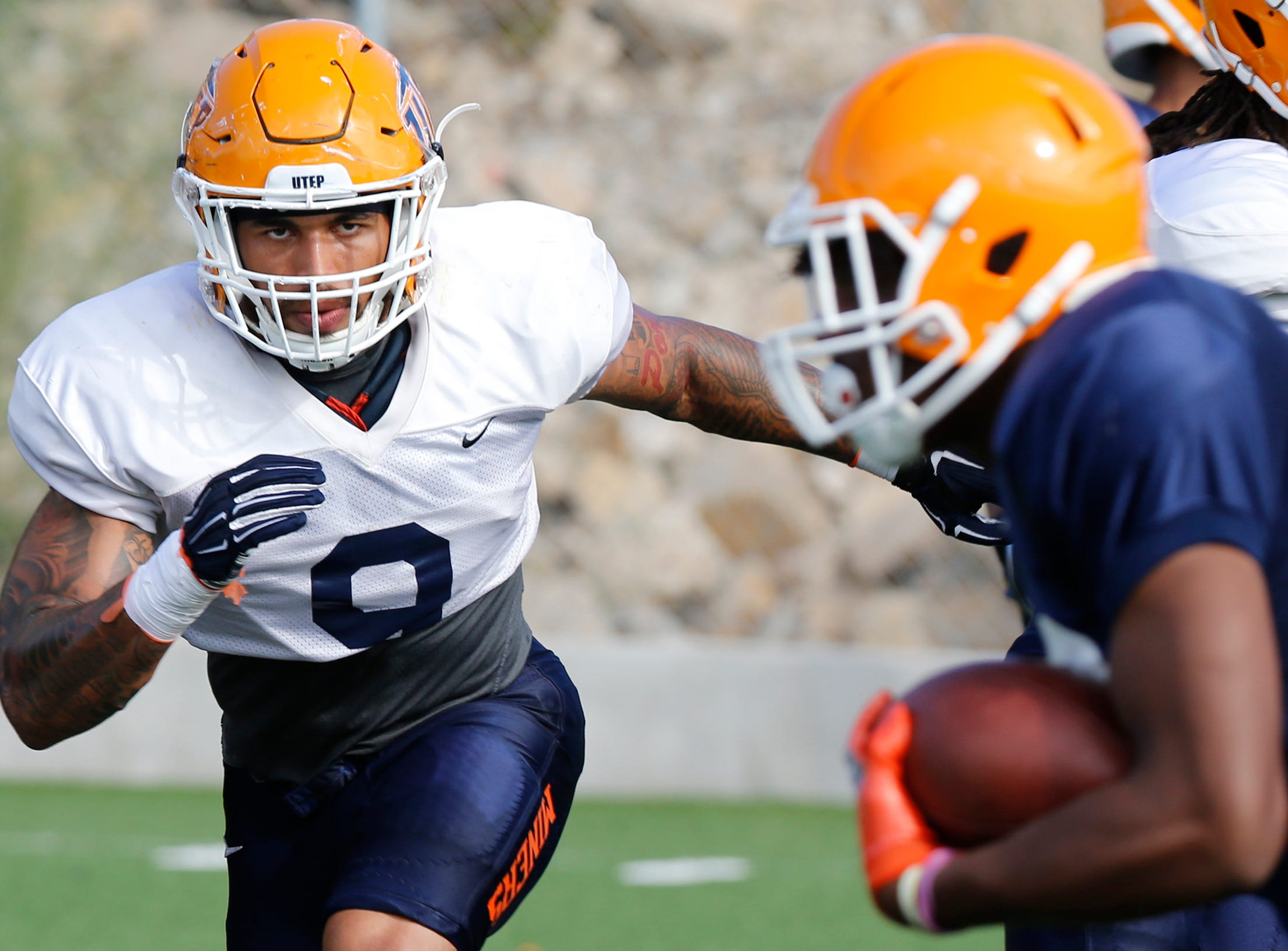 UTEP football notes: AJ Hotchkins sets up race to be C-USA's leading tackler