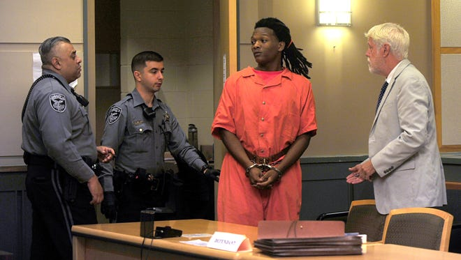 Bridgeton resident Charles H. Gamble, 18, appeared before Judge Cristen D'Arrigo for a pre-trial detention hearing at Cumberland County Courthouse on Wednesday, September 5. Gamble is charged with murdering 9-year-old Jennifer Trejo in July. His hearing was adjourned until next week.