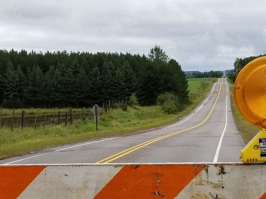 State 107 near Wausau was shut down due to flooding and local water levels Wednesday morning.