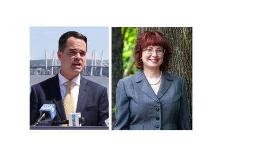 State Sen. David Carlucci and Julie Goldberg, his challenger in a 2018 Democratic primary.