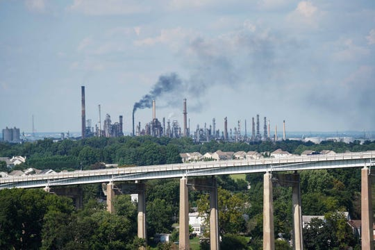 The Delaware City Refinery is pictured.