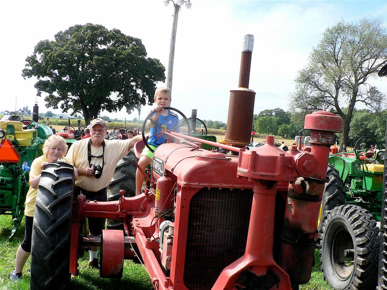 Antique tractor shows attract grandparents who remember and youngsters who enjoy.