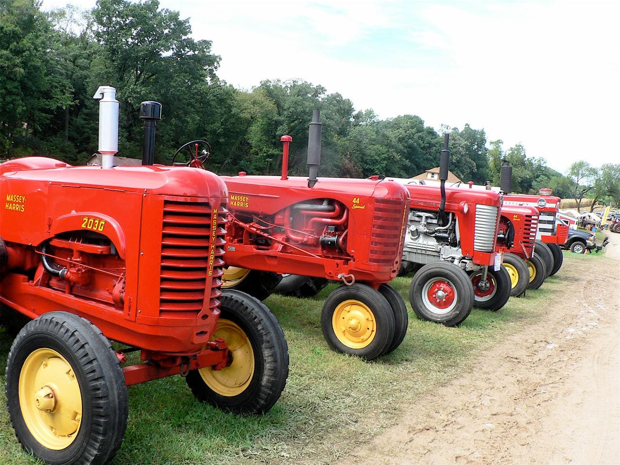 A few of the shows featured tractor, the Massey Harris, on display.