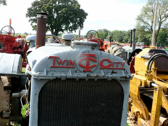 "Note the logo of the old Twin Cities tractor which appears very comparable to the ""Twins"" uniforms."