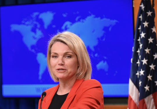 "In announcing its decision to nix funding for the U.N. Relief and Works Agency, State Department spokeswoman Heather Nauert said the United States could no longer ""shoulder the very disproportionate share of the burden of UNRWA's costs."""