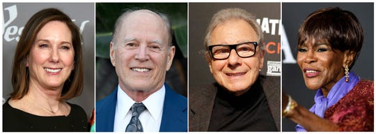 Producers Kathleen Kennedy (from left) and Frank Marshall, composer Lalo Schifrin and actress Cicely Tyson will be honored, along with publicist Martin Levy, at the film academy's Governors Awards on Nov. 18.