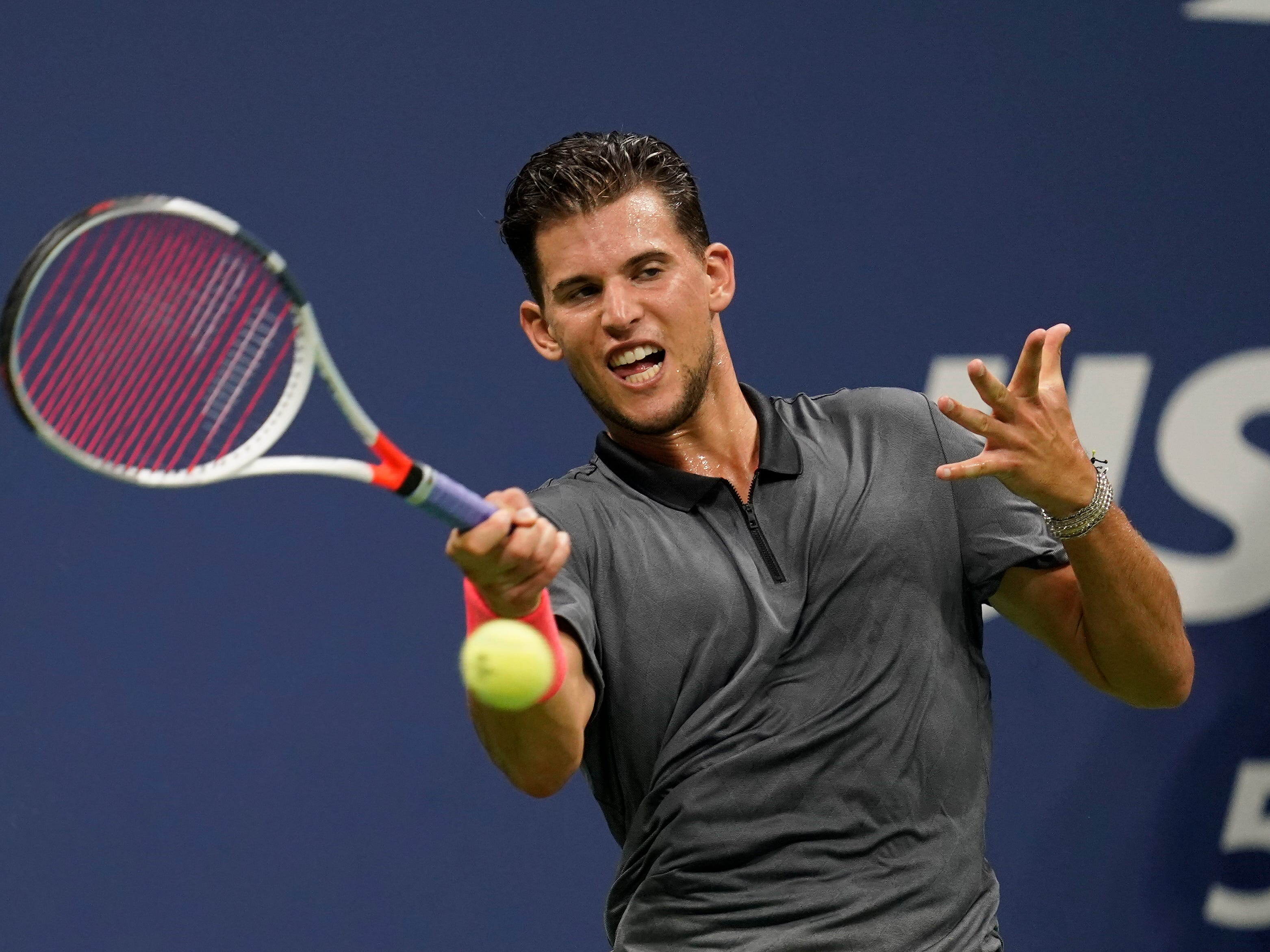 Dominic Thiem won the first set against Rafael Nadal 6-0.