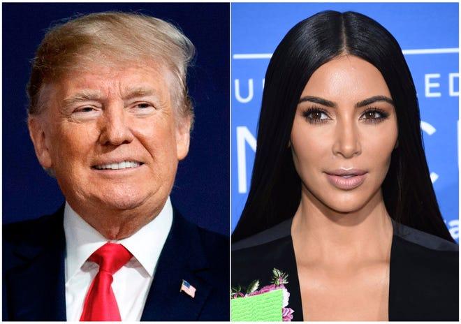 President Donald Trump and Kim Kardashian
