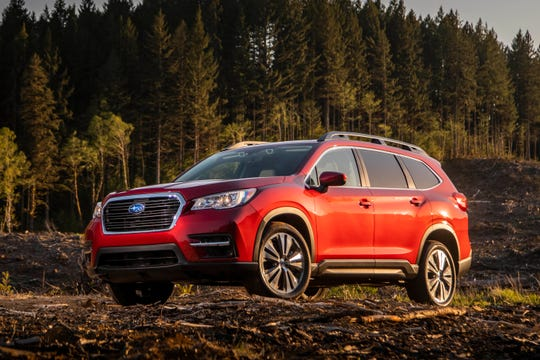 This undated photo provided by Subaru of America shows the 2019 Subaru Ascent, which offers seating for eight. (Courtesy of Subaru of America via AP)