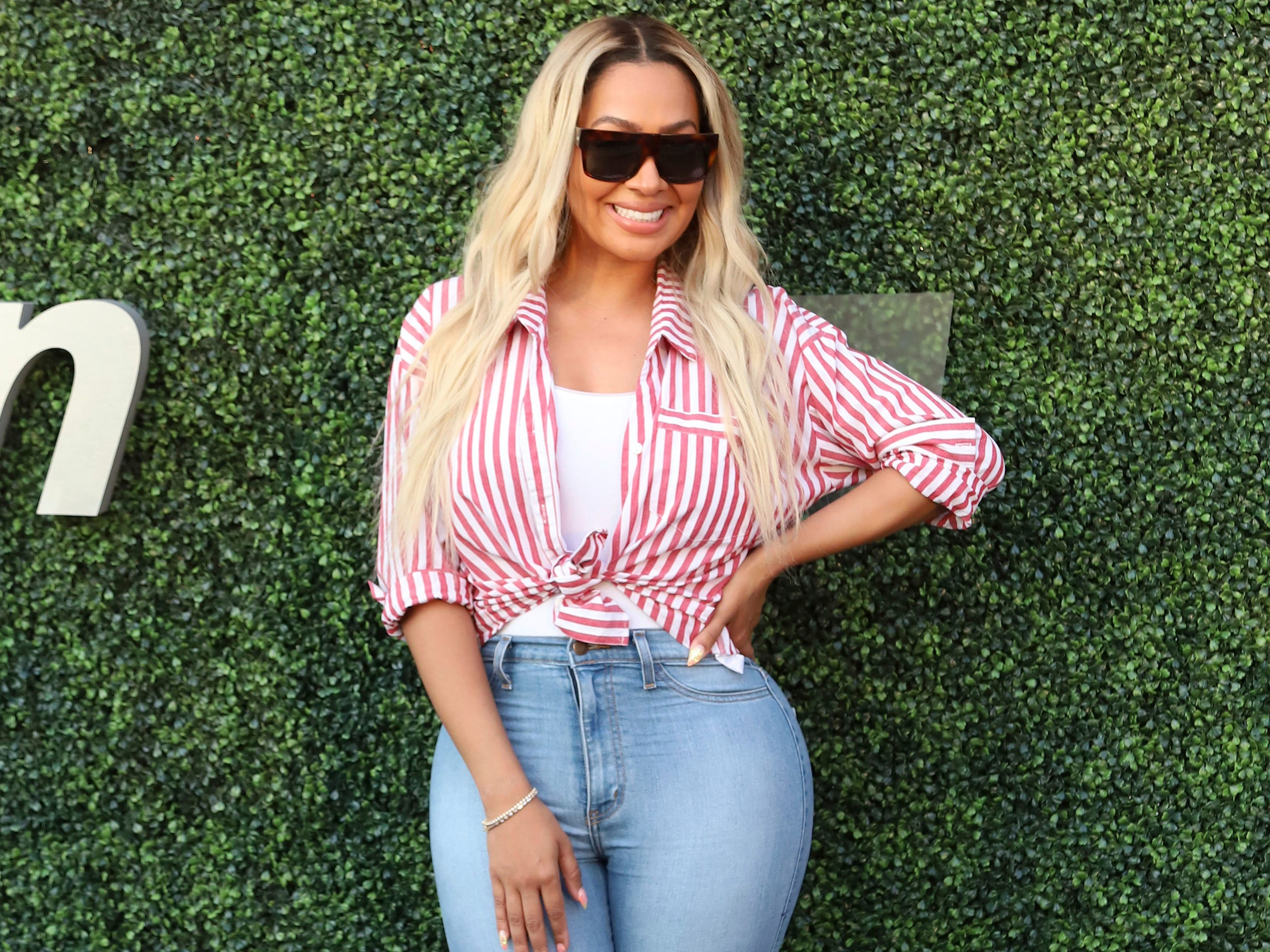 La La Anthony attends the quarterfinals of the US Open at the USTA Billie Jean King National Tennis Center.
