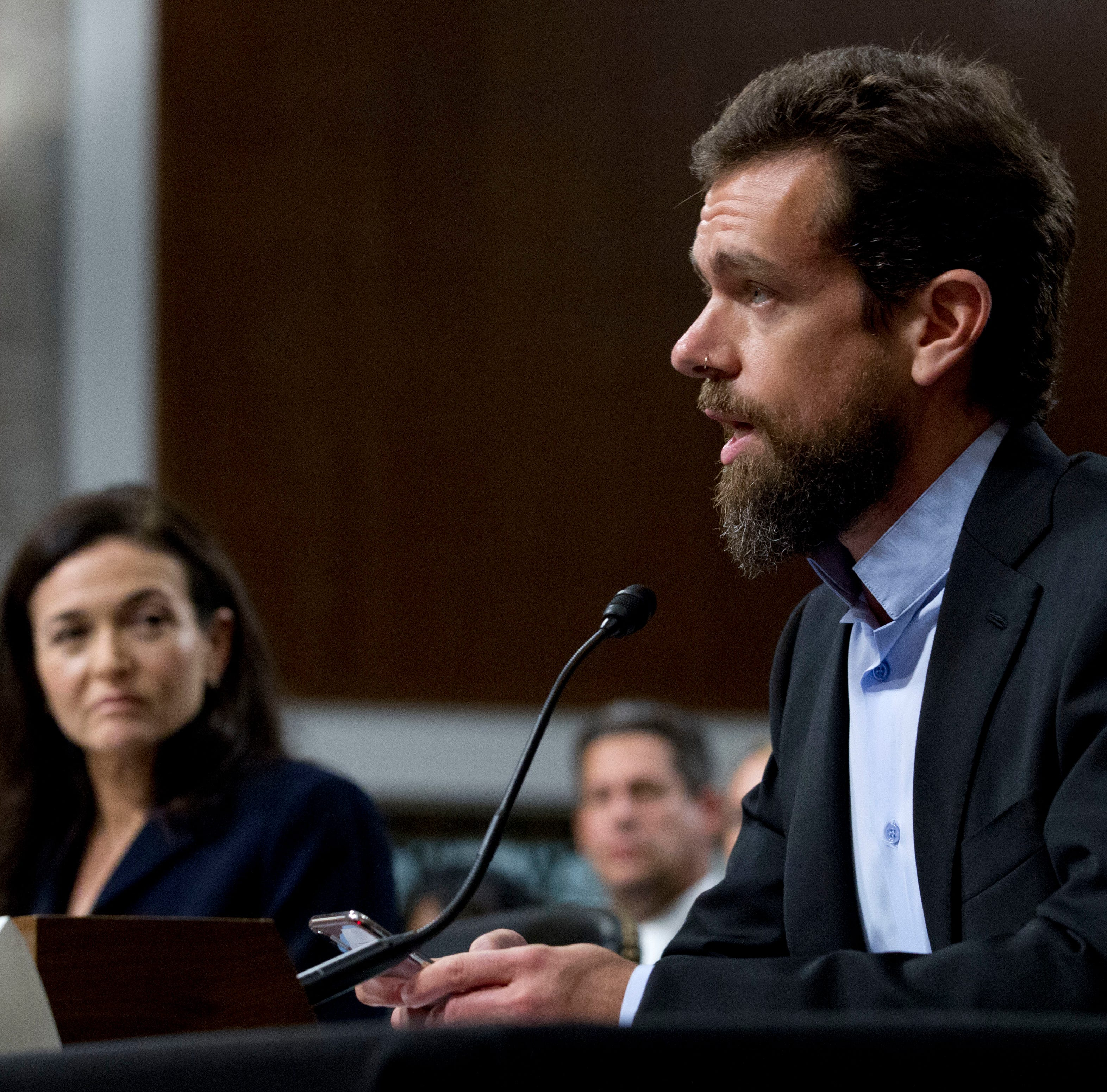 Twitter's Jack Dorsey continues testimony on Capitol Hill