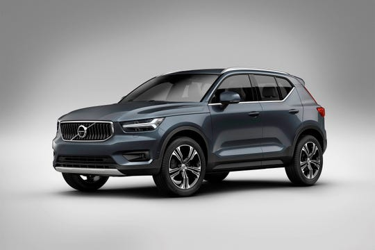 This undated photo provided by Volvo Cars of North America shows the 2019 Volvo XC40, a more affordable, scaled-down version of the Swedish carmaker's popular midsize and full-size SUVs. (Courtesy of Volvo Cars of North America via AP)
