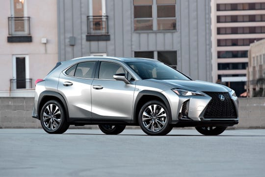 This undated photo provided by Toyota Motor Sales U.S.A. shows the 2019 Lexus UX, a new luxury subcompact crossover that is less expensive than the company's popular RX and NX models. (Courtesy of Toyota Motor Sales U.S.A. via AP)