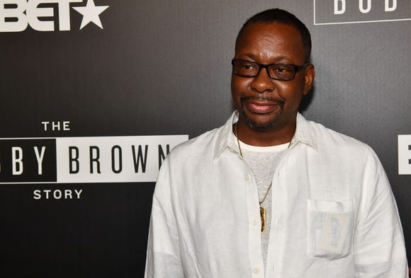 "Bobby Brown at a premiere Of ""The Bobby Brown Story"" on Sept. 1 in Atlanta."