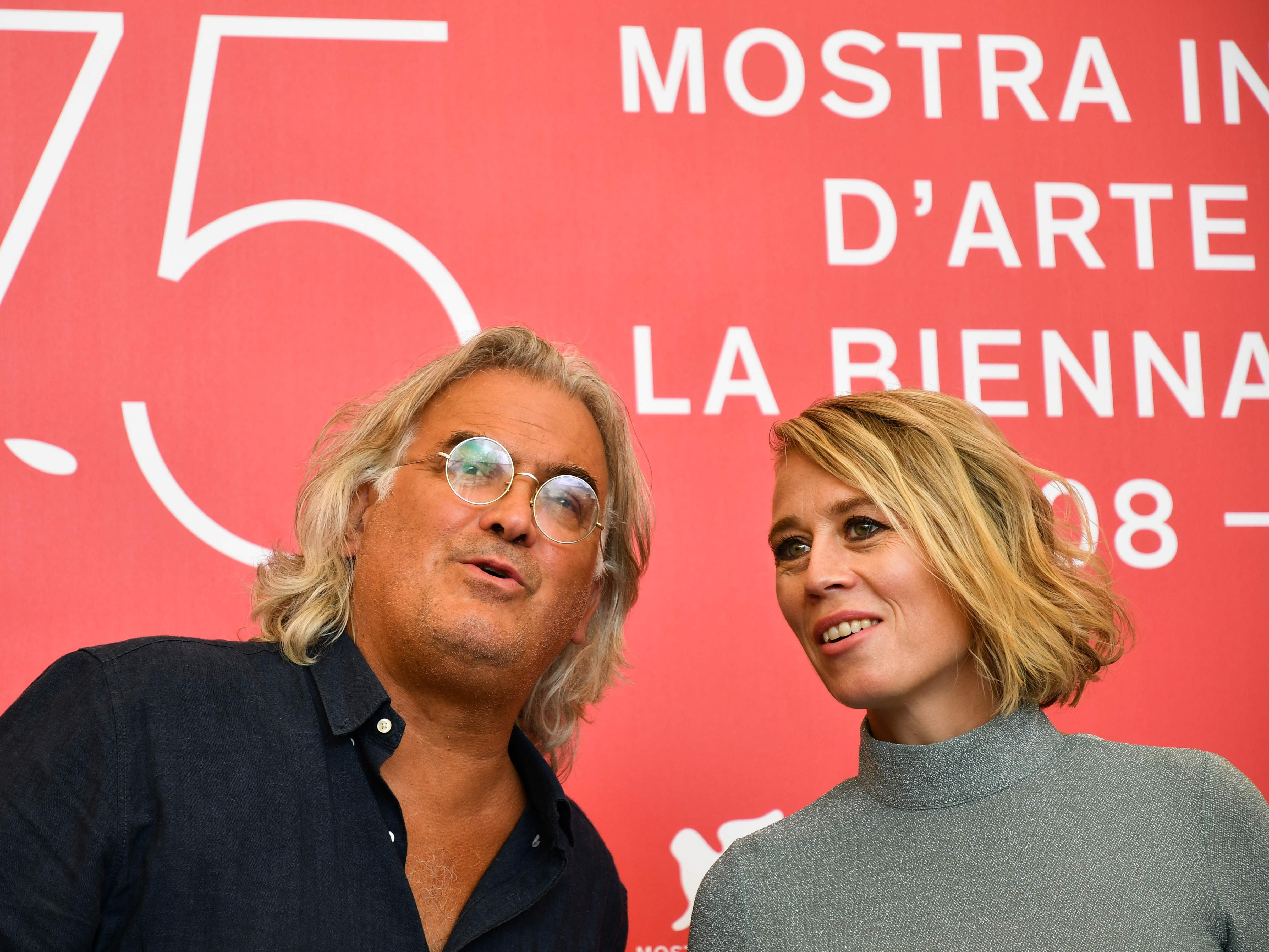 """Director Paul Greengrass and actress Maria Bock are in Venice for their film """"22 July,"""" presented in competition on Wednesday."""