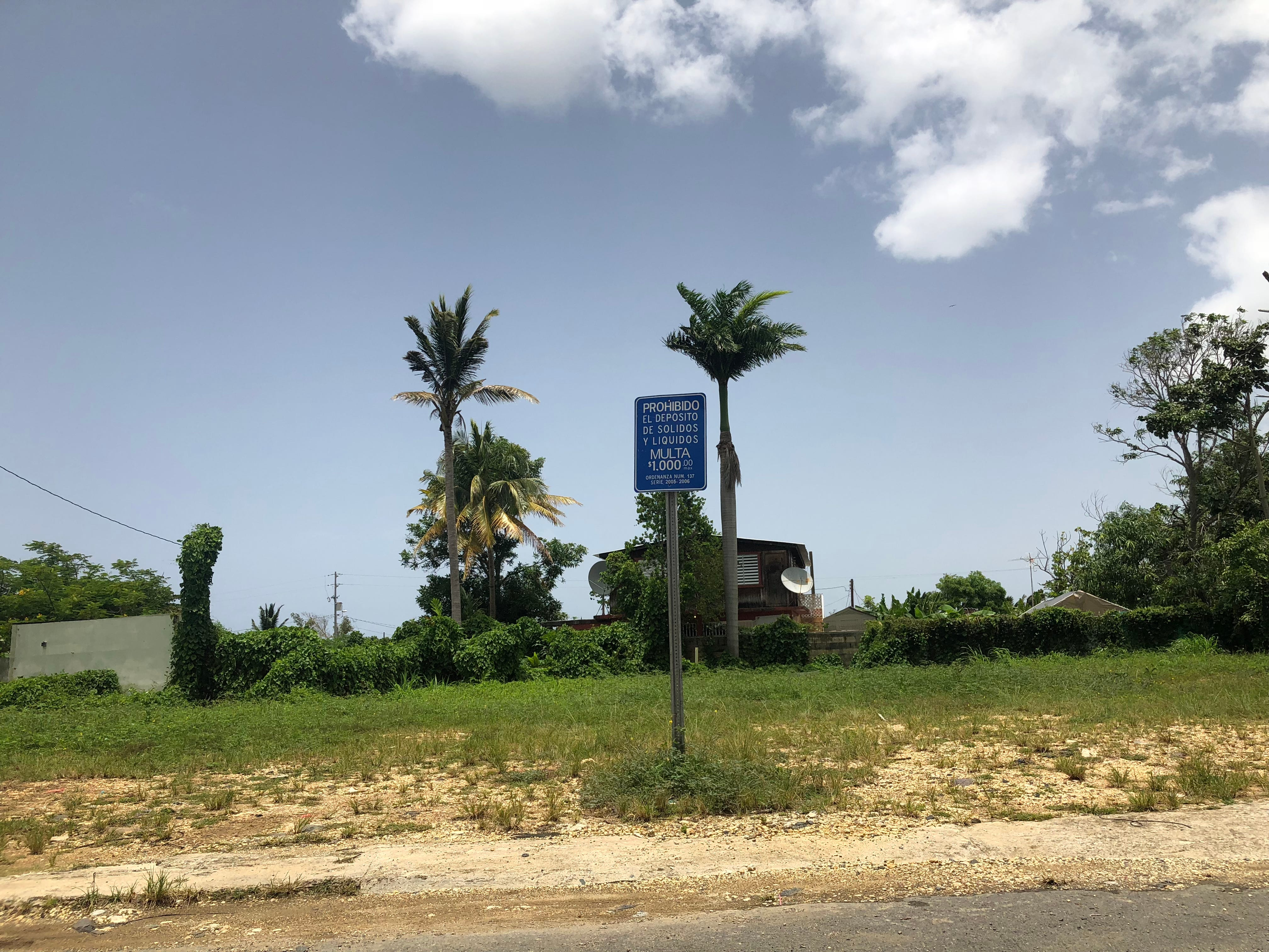 The neighborhood of Vietnam, south of San Juan, is dotted with empty lots such as this one after local officials expropriated over 300 homes in the area.