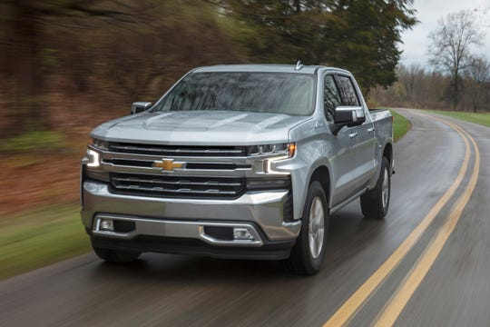 This undated photo provided by General Motors shows the 2019 Silverado, which features a large cargo bed in the full-size truck class. (Courtesy of General Motors via AP)