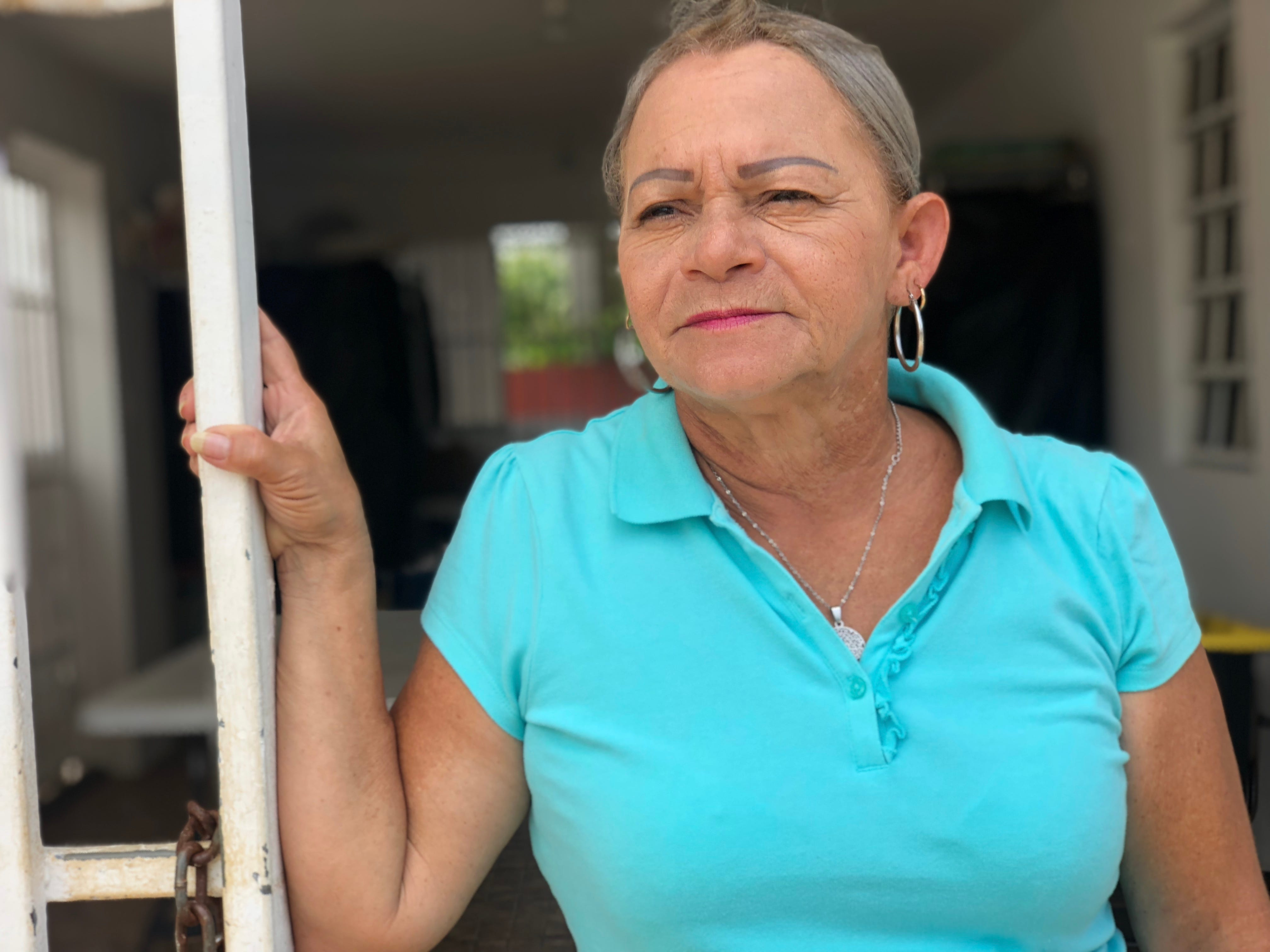 Carmen Torres, 61, has fought off expropriation attempts on her property in Vietnam, a neighborhood south of San Juan on the banks of San Juan Bay.