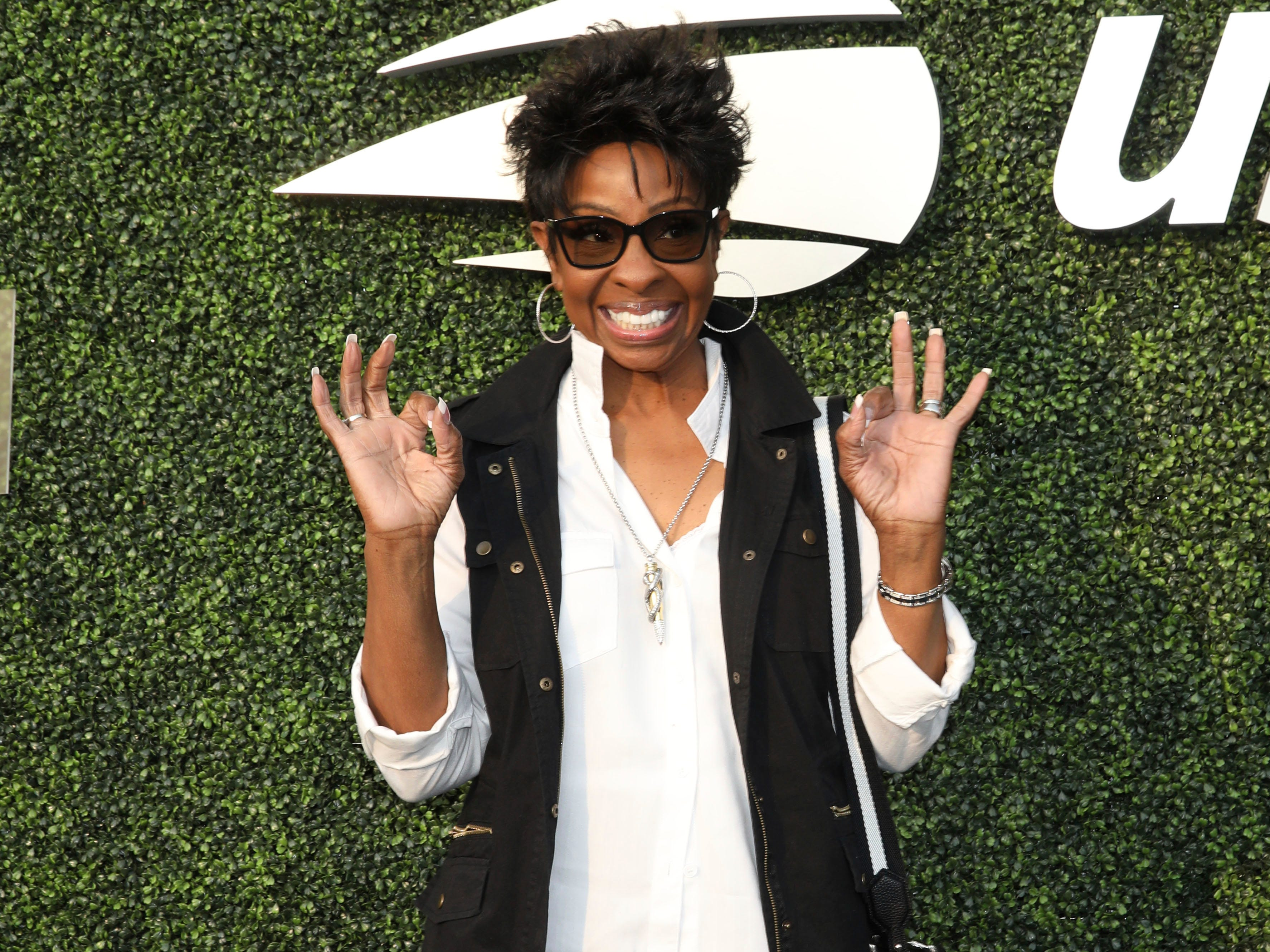 Gladys Knight attends the opening night ceremony of the US Open.