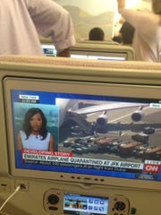 Passenger Muntaz Alli told USA TODAY he didn't know the seriousness of the situation until he say CNN was reporting about his flight.