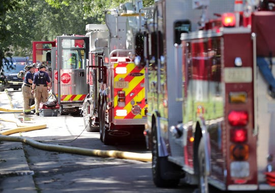 A manaccused of neglecting an 18-month-old boy who died of injuries caused by a fire last month has turned himself into police. The fire happened Sept. 6 at 127 First St. in Menasha.