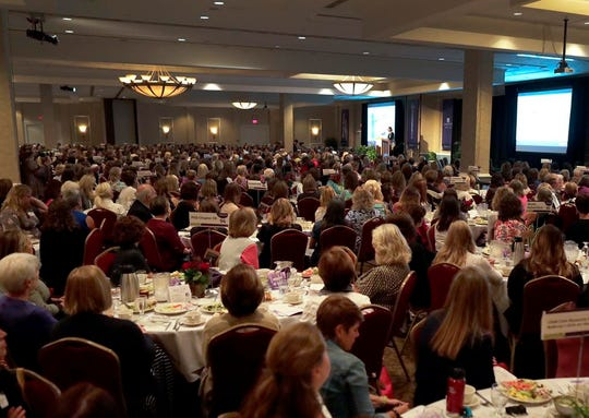 The Women's Fund for the Fox Valley Region luncheon drew more than 1,000 people to the Red Lion Hotel Paper Valley ballroom on Thursday.