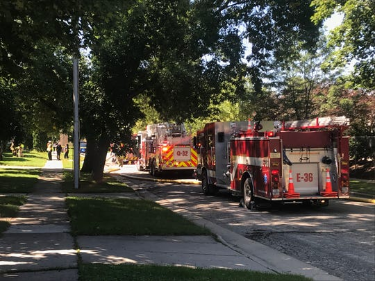 A fire at an apartment building in the 100 block of First Street in Menasha injured an infant boy.
