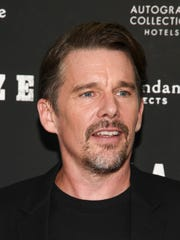"Ethan Hawke attends a special screening of ""Blaze"" at the IFC Center on Wednesday, Sept. 5, in New York."