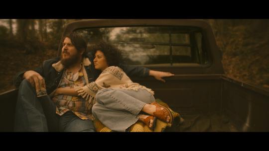 """Ben Dickey as Blaze Foley and Alia Shawkat as Sybil Rosen in Ethan Hawke's """"Blaze,"""" an IFC Films release."""