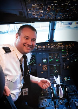 Asheville native Thomas Rickman is the pilot of Spirit Airlines' first flight into Asheville on Thursday. He is a 2000 graduate of Carolina Day School and learned to fly at Embry-Riddle Aeronautical University.