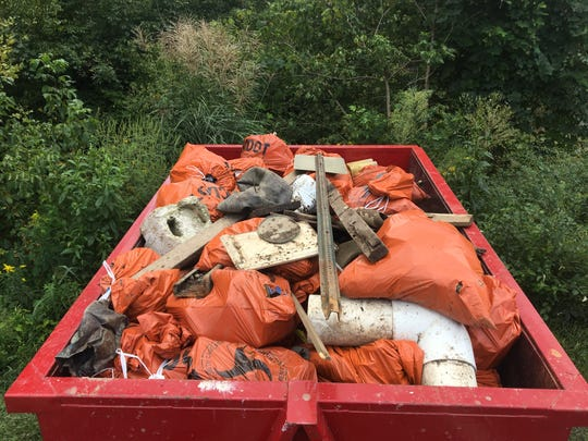 Big Sweep 2018 is Sept. 8 on the French Broad River. Last year volunteers hauled 2,340 pounds of trash from the river.