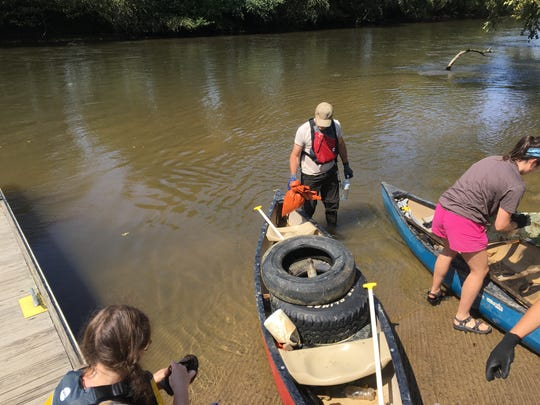 Last year Big Sweep netted 45 tires from the French Broad RIver. Big Sweep 2018 is Sept. 8.