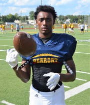 Battle Creek Central receiver KeOndre Glass is putting up big numbers in the early going in the 2018 season.