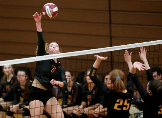 Ava McCabe of Kingston finished her high school career with 1,047 career kills. She is the Kitsap Sun's volleyball player of the year.
